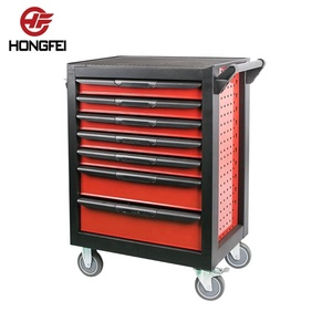 7 Drawer Household Mechanic Cheap Iron Garden Handle Tool Cart With Tools