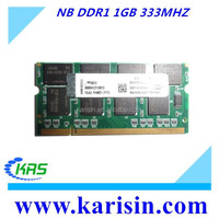 Lifetime warranty 1gb ddr1 2gb laptop ram with original chips