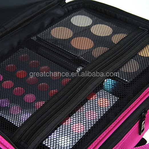 Professional Makeup Train Case Cosmetic organizer Make Up Artist Box 3 layer Large size with Shoulder for Makeup Brush set Hair