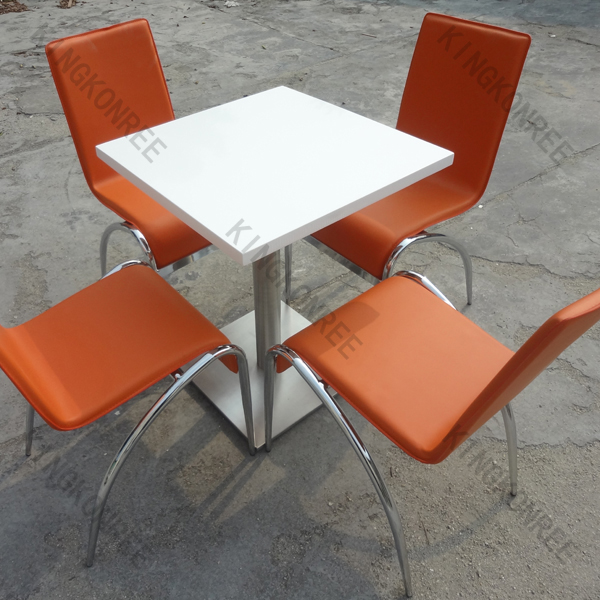 Artificial Stone Marble Round Dining Tables Set Restaurant Tables And Chairs