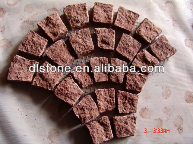 China natural granite garden / natural red block slabstone paving stone