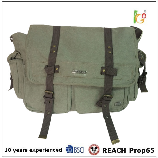 burlap bags Travel Military Messenger canvas bags