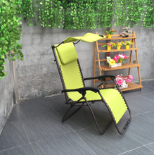 Chair Zero Gravity Canopy Shade Lounge Chair Over Size Patio Outdoor Garden