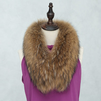 2016 raccoon dog fur collar orange color real fur
