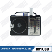 Mini Small Usb Sd Am Fm Sw Radio With Built-in Speaker