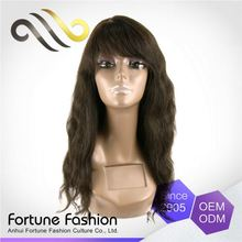 Customizable Reasonable Price Tangle Free Lace Full Wigs Indonesia With Bangs Made Japan