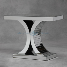 Wholesale italian design wood caved console table with mirror