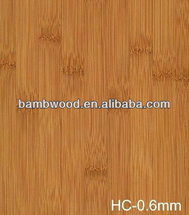 Carbonized Horizontal Bamboo Veneer Sheets
