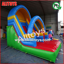 theme rainbow arch beautiful giant popular inflatable slide