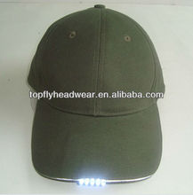 100% cotton twill 6 panel dark grey blank LED soprts cap and baseball cap and fashion hat