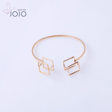 2017 New Trend Products Gold Plated Cuff Bangle Geometry Bracelet