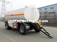 JDFLu Ping machine 8 m 10.7 t 2 axis tanker drawbar trailer LPC9160GYYQ0086-155 8888 8989