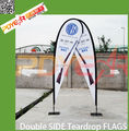 outdoor event teardrop flag