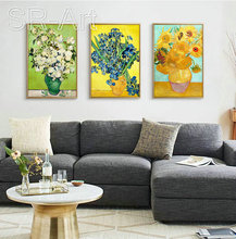 Famous Van Gogh Sunflowers Oil Painting Museum Quality Print On Canvas