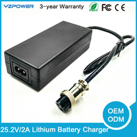 Universal Lithium 25.2V 2A for 24V 2A power wheelchair or mobility scooter Power Battery Charger