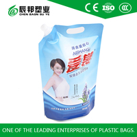 stand up pouch bag with spout for packing washing liquid