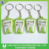 Cheap Promotional Tooth Shape Led PVC Keychain Torch Supplier