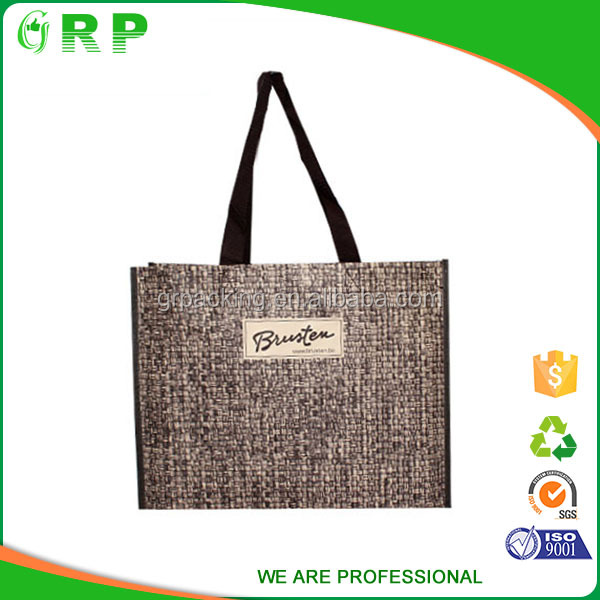 China manufacture reusable pp woven shopping bag foldable with zipper