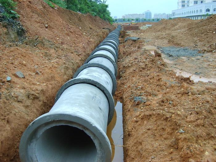 Concrete Drain Pipe : Reinforced cement sewage drain pipe machinery water