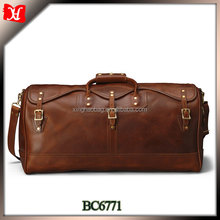 High end top grain leather travel bag new products fancy travel bag mens travel duffle bag