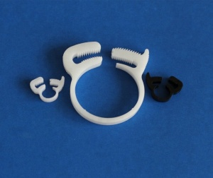 4.1~81.5mm Plastic ratchet type pipe tubing clip snap grip hose clamp with double toothed jaw