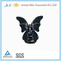 Black butterfly claws jaw hair clips for girls