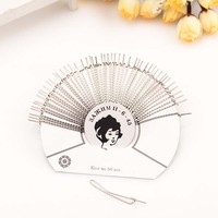 2015 New Style 47*5mm hair accessories metal silver plain hair clips wholesale bobby hair pins for ladies fashion accessories