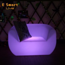 outdoor led furniture sectional sofas/colored plastic led sofas