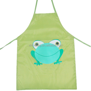 Lovely waterproof cartoon printing PVC backing 210d kids apron
