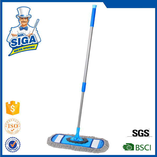 Mr.SIGA 2015 hot sale telescopic handle flat cotton twitter mop