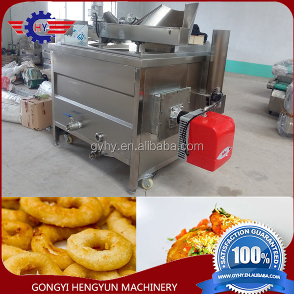 100kg/h Fried crabs making machine/crabs frying equipment