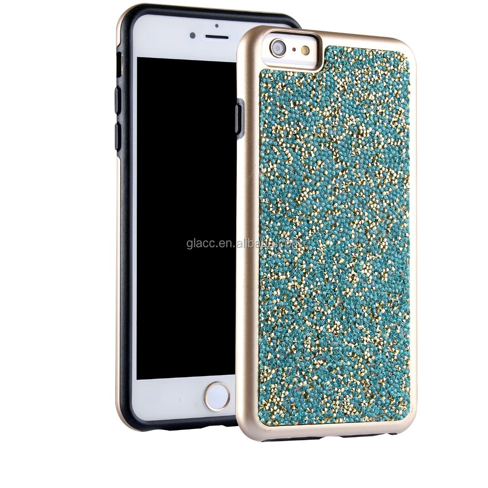 Best selling cheap glitter diamond for iphone 7 tpu bumper case