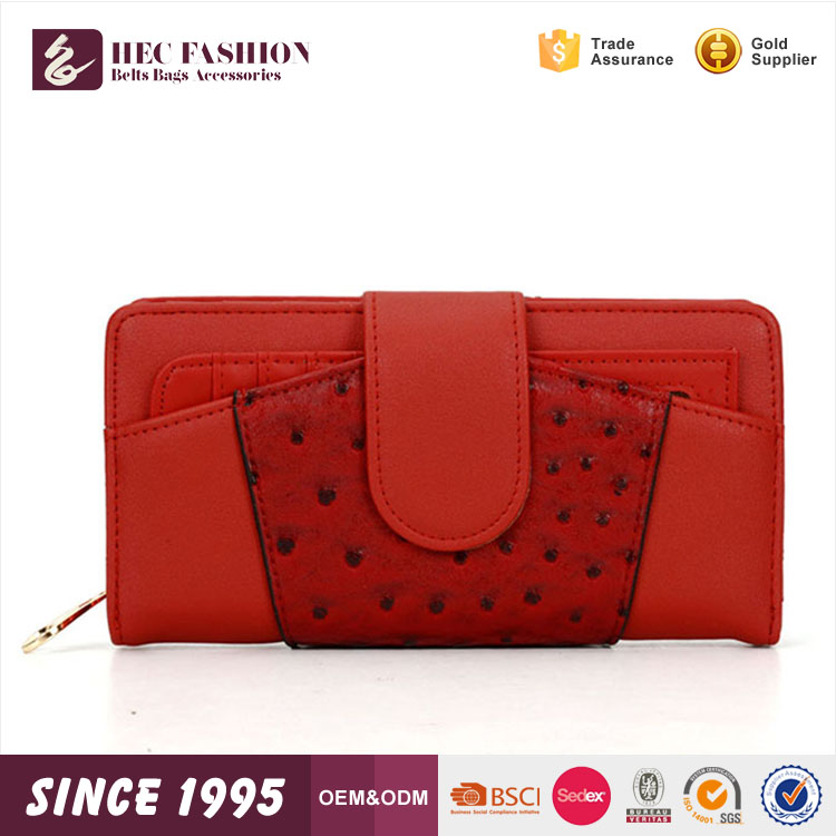 HEC China Wallet Factory Online Shopping PVC Material Clutch Purse Ladies