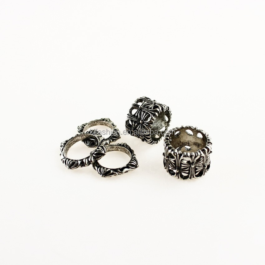 Wholesale vintage fahsion style cross shape ring unisex ring