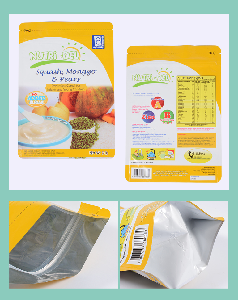 China Suppliers Stand Up Pouch Children Breakfast Cereal Packaging For Wholesale