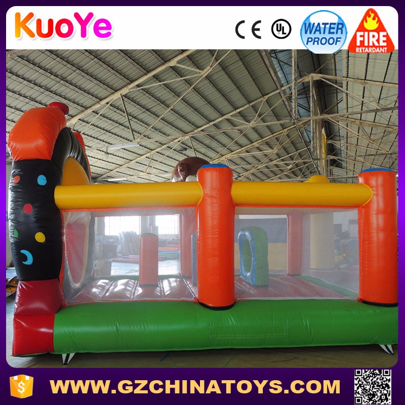 Hot sale China lovely clock inflatable cartoon bounce house for kids