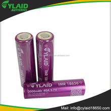 Top quality New Packing Cylaid IMR 18650 3000mah 40a Ecig Battery