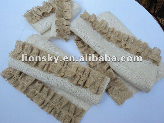 Available size Festive Christmas Burlap table runner for choose