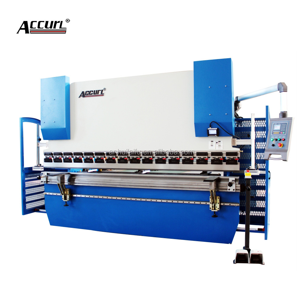 Accurl Brand 6 axis CNC Press Brake 160 tons Sheet Metal,CNC Hydraulic Bending Machine for Delem DA66T CNC System Y1 Y2 X R-axis