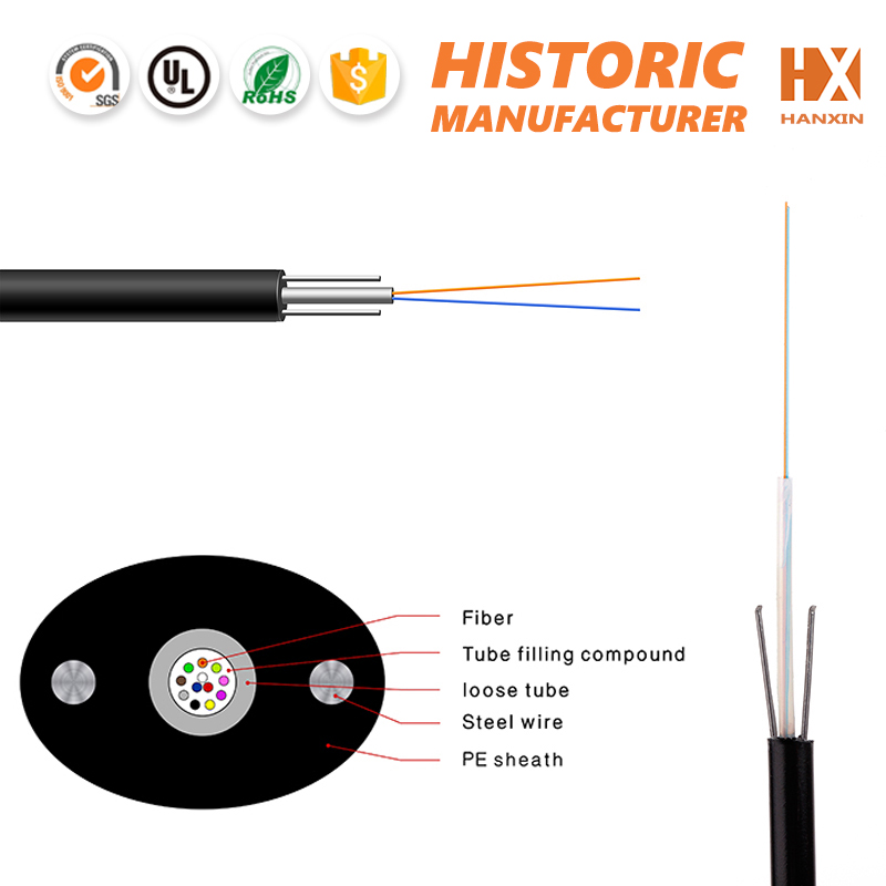 High strength Corning/Yofc/LS GYXTPY fiber optic cable aerial