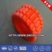 Red plastic nylon small gear