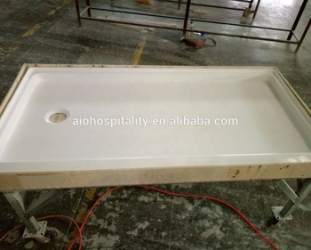 US Cultured Marble Shower Pan 30''x60'' Rectangle Shower Pan with Textured Non-Slip Floor Shower Pan Shower Base