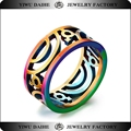 Daihe stainless steel rainbow color gay men ring