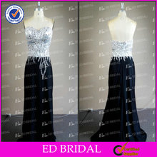 Real Photos Sheath Sweetheart Beaded Spandex Evening Gowns In India