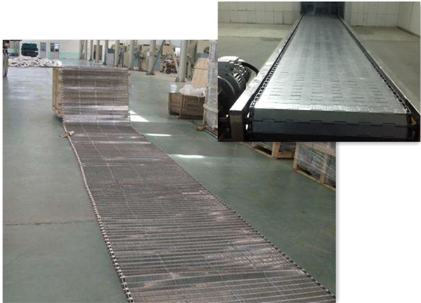 Food industrial teeth spiral conveyor belt pizza mesh belt biscuit oven metal conveyor belt