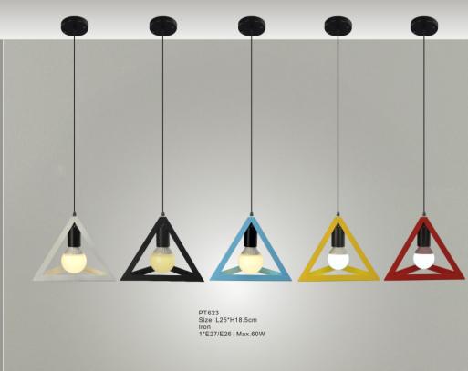 2016 Modern Pendant Light Fixtures Triangle Hanging Lamp