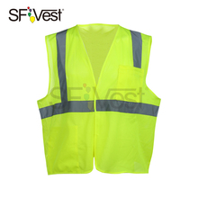 Wholesale construction cheap ansi market safety sports mesh vest with hi vis breathable reflecting vest