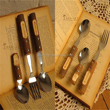 hige quality fork spoon wooden handle customize make wholesale hotsale
