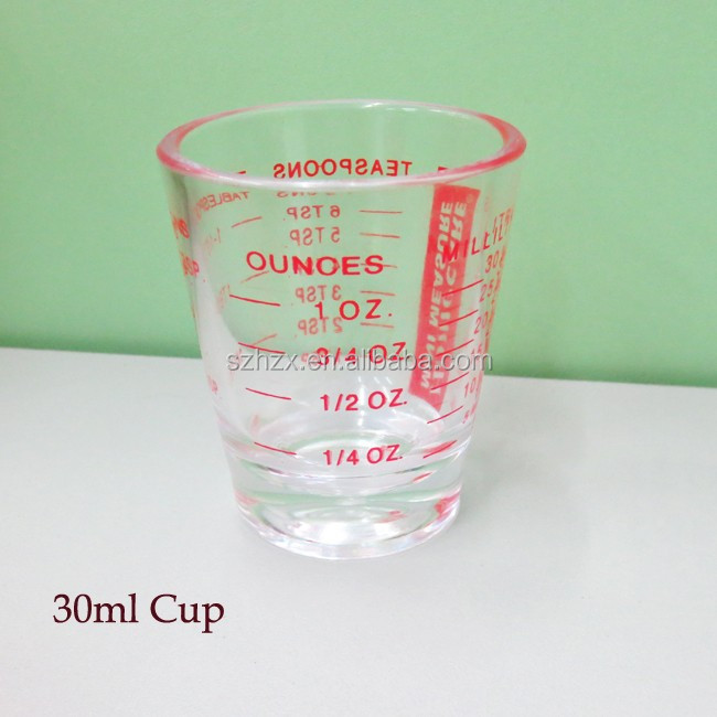 1oz hot sale transparent plastic measuring cup with low price