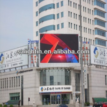 P10 led screen transparent for glass building decoration queue led display